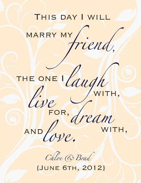 Wedding Readings For Friends: Custom Wedding Poem Digital Print Gift 8 X 10 By