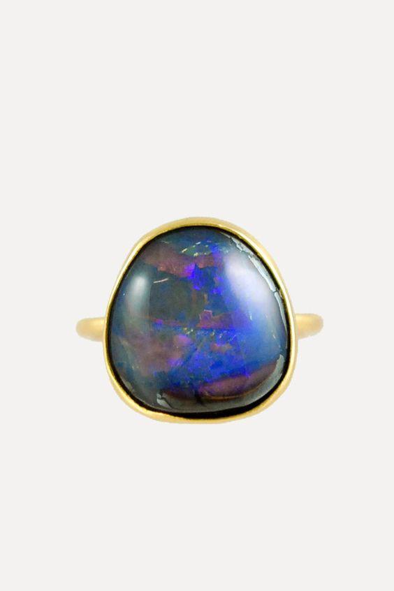Annette Ferdinandsen 18k Blue Opal Ring