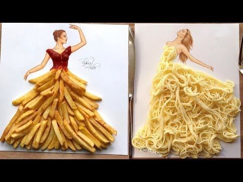 Creative Fashion Designs With Everyday Objects Youtube Fashion Illustrator Youtube Fashion Creative Fashion