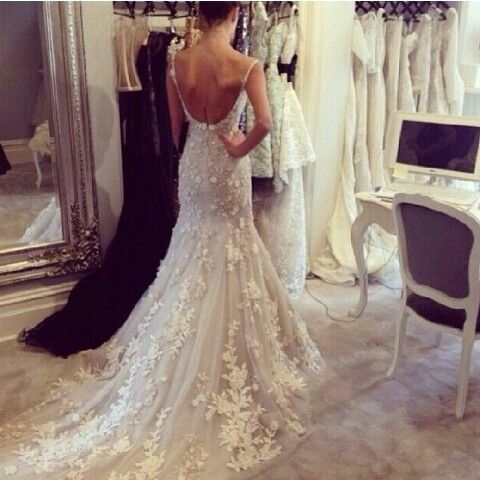 Pinterest the world s catalog of ideas for Steven khalil mermaid wedding dress