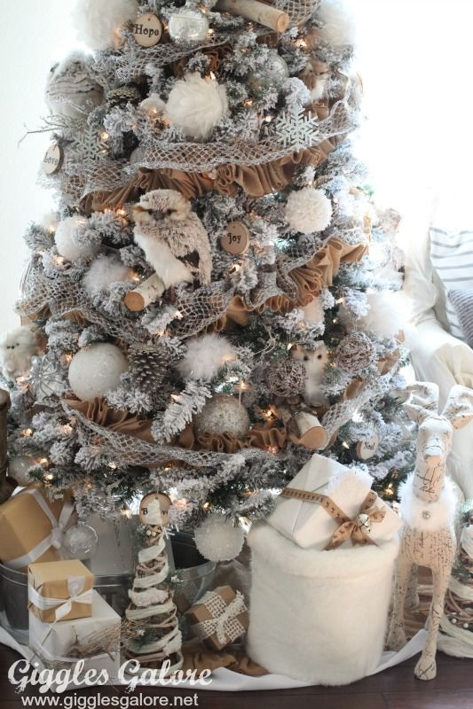Winter woodland christmas tree michaels dream tree for Michaels christmas tree ornaments