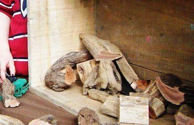 Open-ended driftwood blocks for kids by @Jennifer Kable