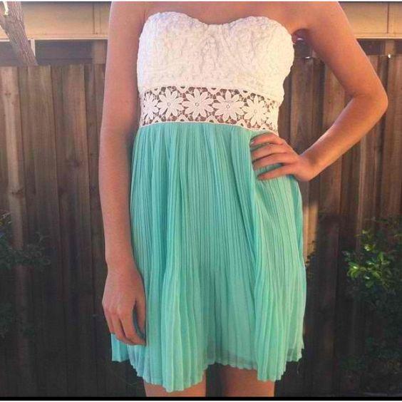 !: Color, So Cute, Dream Closet, Cute Dresses, Strapless Dress, Cute Summer Dresses