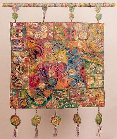 Intriguing, inspirational, love the detail work and the hanging medallions! Thank you Jill Smith!