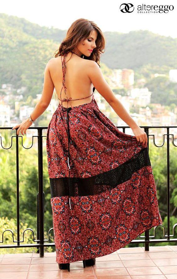 Descubre tu espalda en esta primavera... #Moda #SoyAltereggo #Vestidos #Maxidresses