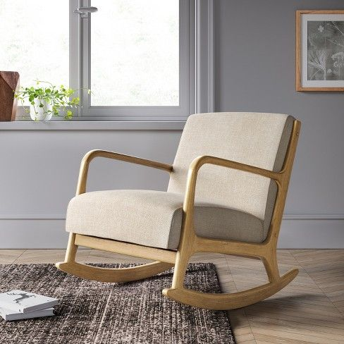 Esters Rocking Accent Chair Light Gray Project 62 Target