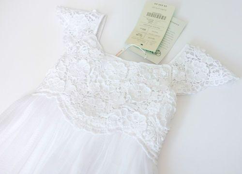 KIDS MONSOON GIRLS WHITE OCCASSION BRIDESMAID EVENT DRESS 12-18 MONTHS £45 | eBay