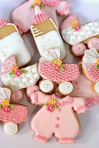 Galletas decoradas para baby shower (coche con canasta) - Las delicias del buen vivir