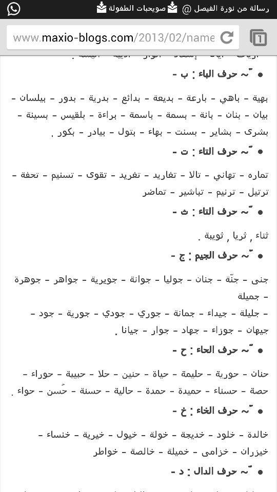 أسماء بنات Baby Names Names Language