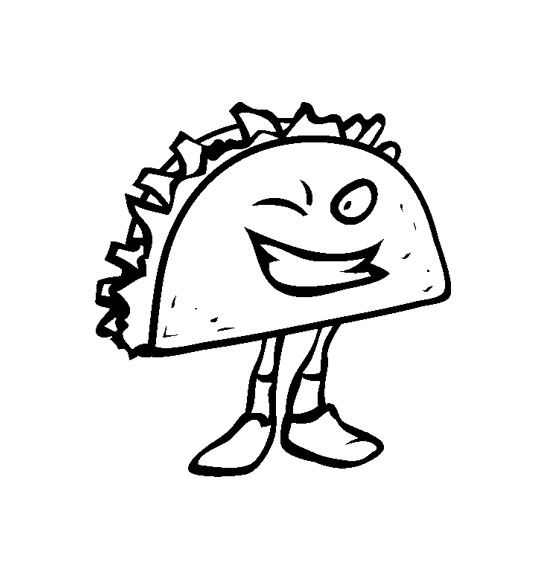 dancing taco coloring pages - photo#4