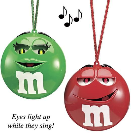 These M&M's Christmas Ornaments