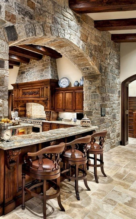 47 Beautifully Rustic Kitchen Design Details To Add Charming