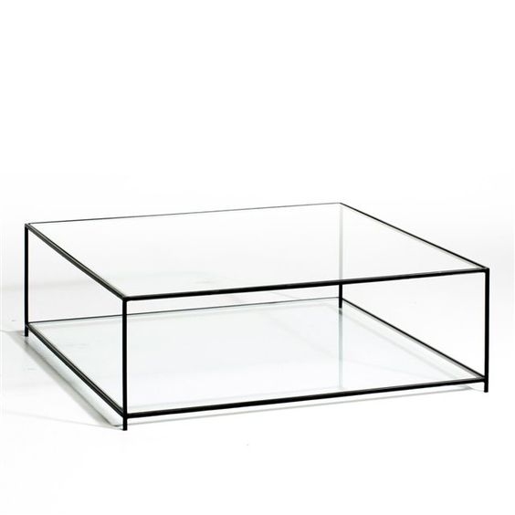 Tables and mobiles on pinterest - Table carree en verre ...