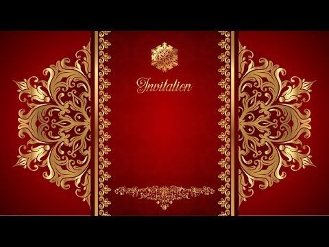 Wedding Intro Video Background Free Border Gold Text All Creative Designs Youtube In 2020 Creative Design Wedding Invitation Video Backgrounds Free