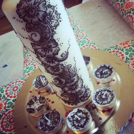 Mehndi Henna Candles : Mehndi candle pretty candles pinterest and