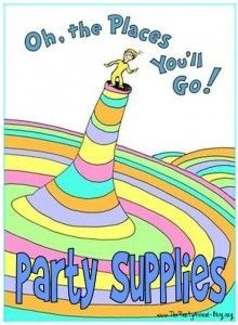 """link here to FREE printables for """"Oh the places you'll go"""""""