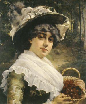 "Albert Edelfelt: ""Cherry Girl"", 1879"