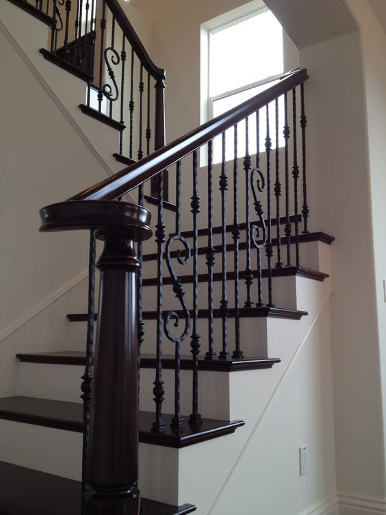 Best Dark Floors Wrought Iron Stairs A House On Graham Avenue 400 x 300
