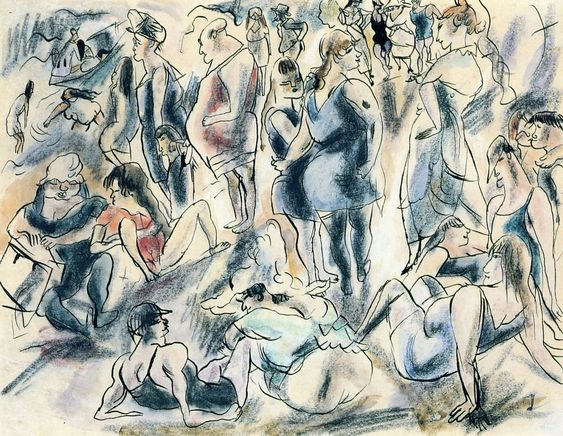American Beach. Jules Pascin (1917). Private collection.