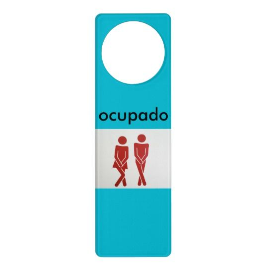 Ocupado Bathroom Doorhanger Zazzle Com Aviso De Porta Placas