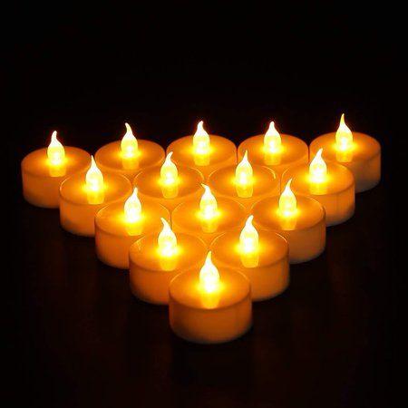 Flameless Led Tea Light Candles Flickering Led Tea Lights Battery