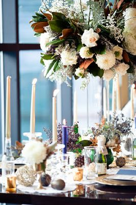 Lovely winter wedding. Upscale lodge feel with refined + organic elements. Charming!