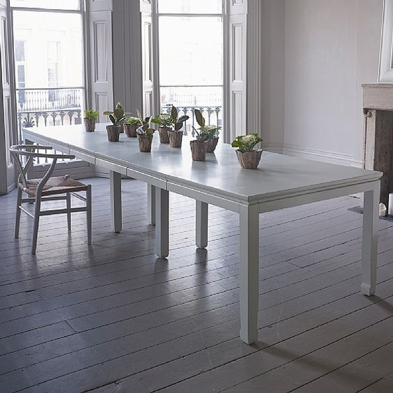 Mandara large extending dining table our mandara dressing for Dining table dressing