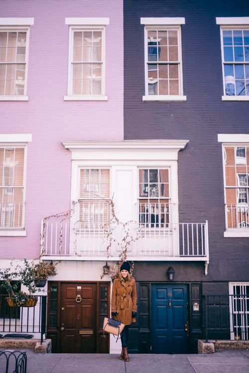 New York City's colorful houses