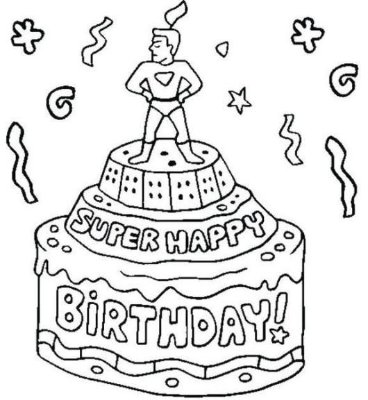 Pin By Jill Rounds On Craft Ideas Happy Birthday Coloring Pages Birthday Coloring Pages Happy Birthday Printable