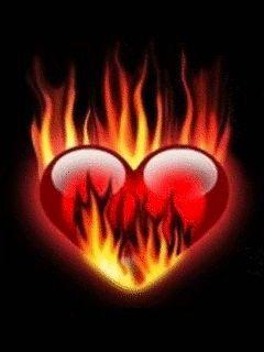 Pin By Mirtangel Prz On Heart Gifs Fire Heart Fire Art Cool Illusions