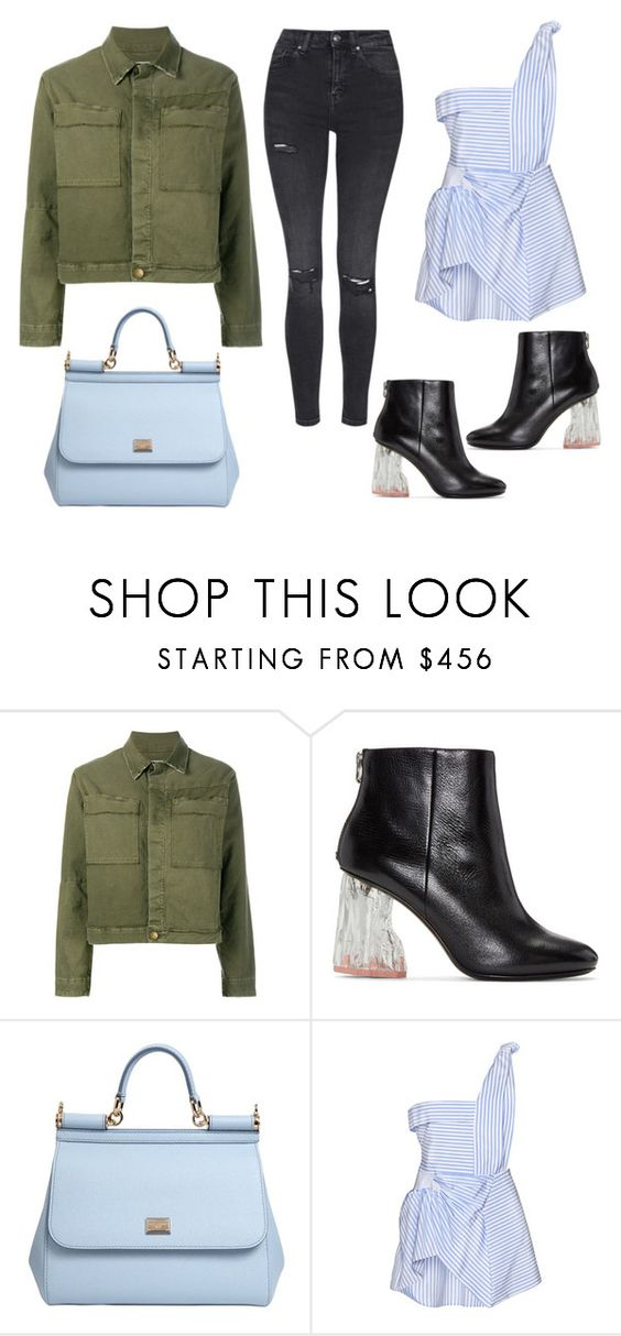 """Casual"" by nataliyabodnar ❤ liked on Polyvore featuring Current/Elliott, Acne Studios, Dolce&Gabbana, J.W. Anderson and Topshop"