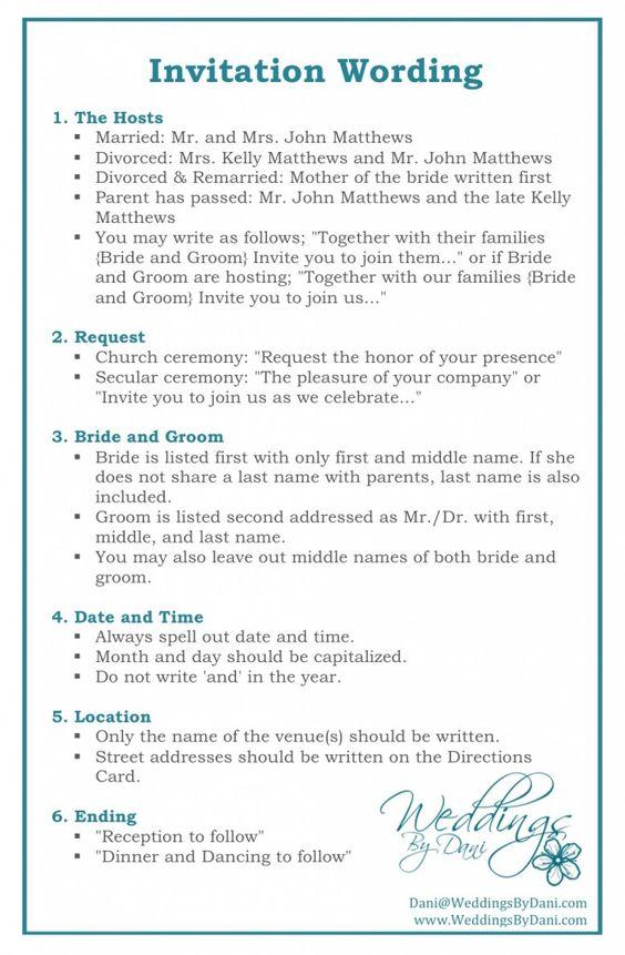 Wedding Invitation Wording Invitationtips Weddingplanning Invitations