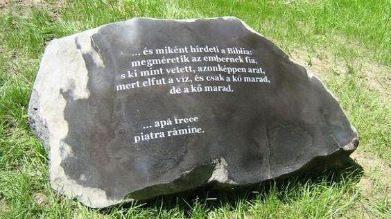 csak a kő marad, a kő marad…