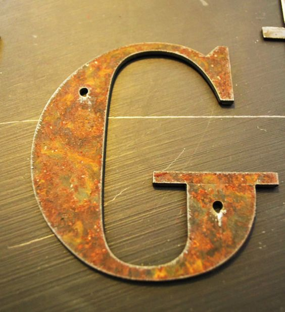 Inch Metal Letters