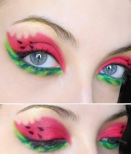 Literally, watermelon makeup.