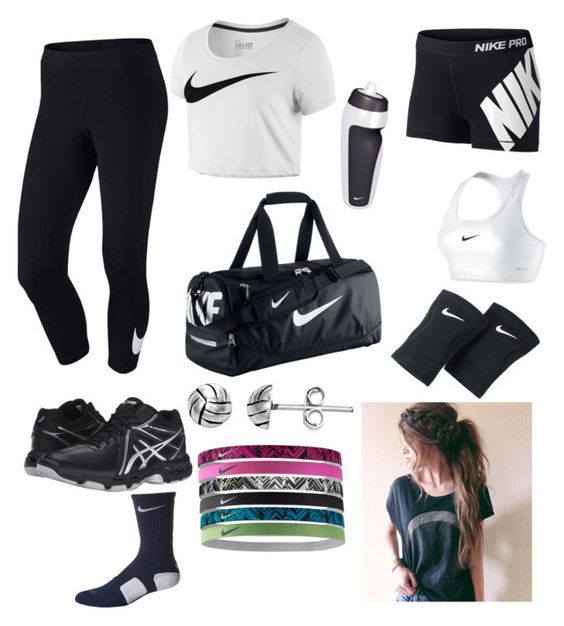 """""""Volleyball"""" by symonestyleowner on Polyvore featuring interior, interiors, interior design, home, home decor, interior decorating, NIKE, Asics and Itsy Bitsy"""