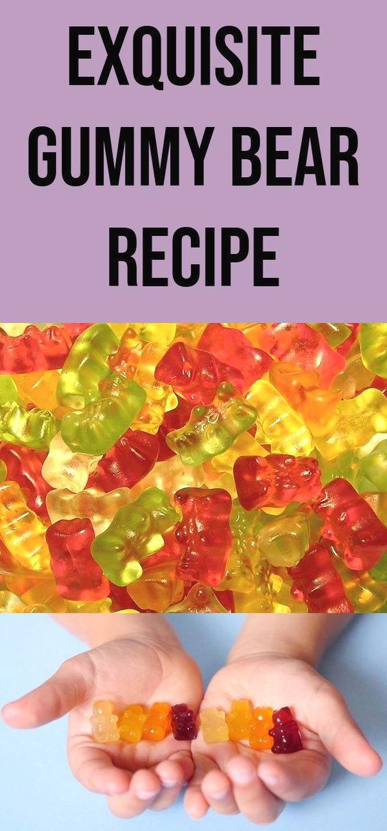 Tasty Gummy Bear Recipe With Jello Gummy Bear Recipe Diy Homemade Description Source Sourc Bear Recipes Gummy Bear Recipe With Jello Homemade Gummies