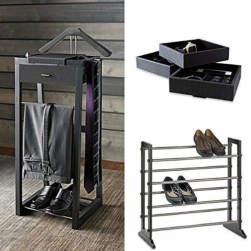 Standing Valet Stand Kenneth Cole Bundle Suit Organizer Shoe Rack Storage  Tray  KennethCole  valet. Details about Standing Valet Stand Kenneth Cole Bundle Suit