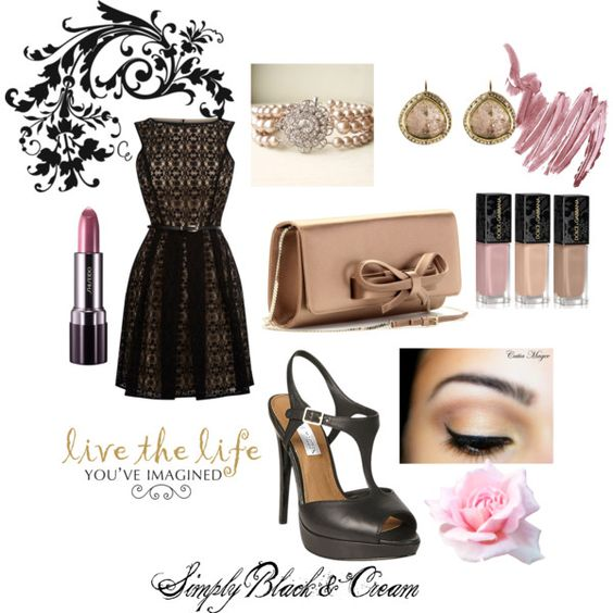 """Simple Black & Cream"" by lisa-garvey-hale on Polyvore"