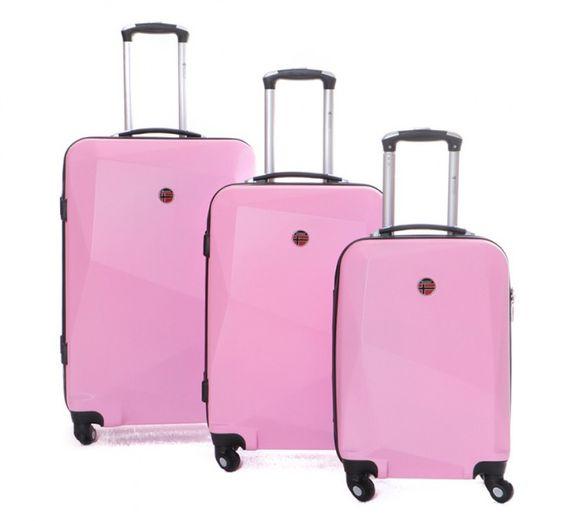 "3er Kofferset ""Spot"" in Pink   Koffer   Accessoires   Fashion   sooo.ch - das Online Marken Outlet der Schweiz"