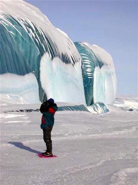 Frozen Tsunami, Antarctica. It's as though time froze still! #HOSTPLUS #feefreeze