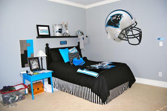 Superior Carolina Panthers Valance, Pillows, Wall Border U0026 Accesories   Boys Bedding    Pinterest   Wall Borders, Valance And Pillows