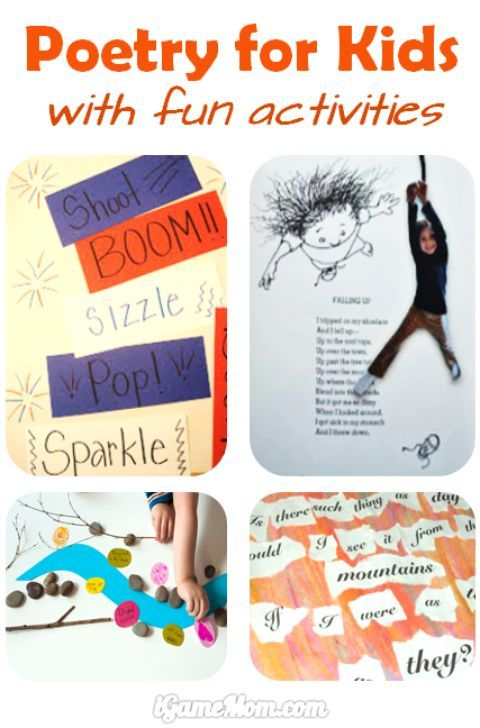 Enjoy poetry for kids with fun activities - many cool ideas!