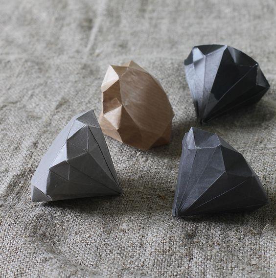 more paper diamonds