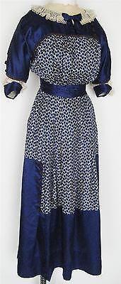 Antique Edwardian Silk Dress Arnold Constable Reptile Brilliant Pattern Colors | eBay