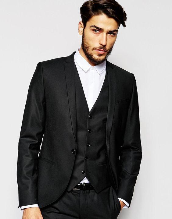 Noak+black+Suit+with+Peak+Lapel+in+Super+Skinny+Fit