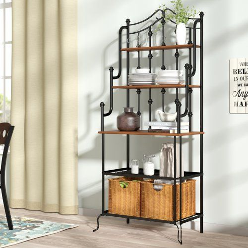 Mork Iron Baker S Rack Bakers Rack Bookcase Design Furniture