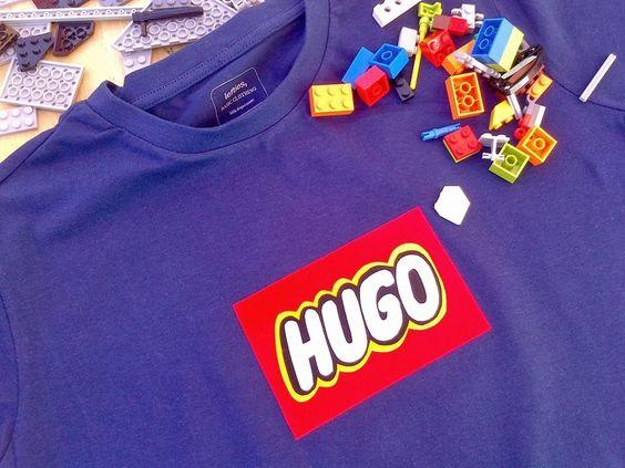 PANDIELLEANDO: Camiseta con Lego Font