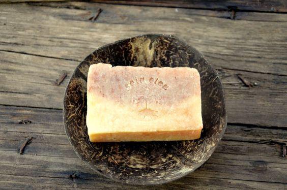 Orange und Patchouli Seife, rosa Tonerde, Shampoo Bar, Haar und Körper, entgiftend Shampoo Bar