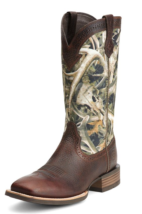 BOOT SALE! Ariat Men&39s Quickdraw Antler Camo Cowboy Boots | Boots